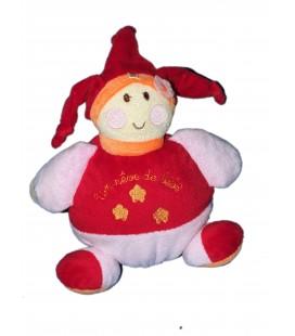 Doudou Lutin rouge rose - Un Rêve de Bébé - CMP - 18 cm
