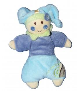 Doudou Lutin bleu - Un Rêve de Bébé - CMP - 18 cm - Grelot