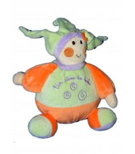 Doudou Lutin Vert Orange - Un Rêve de Bébé - CMP - 18 cm