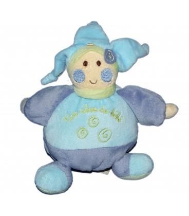 Doudou Lutin Bleu Spirales - Un reve de bebe - CMP - 18 cm