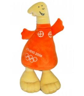 Doudou Peluche J.O. Jeux Olympiques Athène Athens 2004 30 cm flamme orange