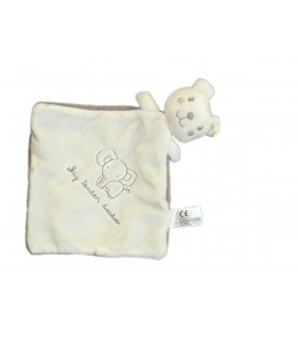 Doudou plat Ours blanc Elephant My Tender Nicotoy