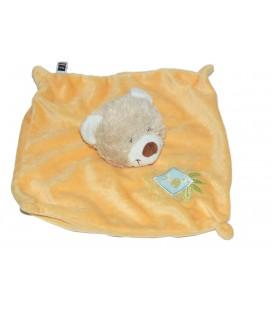 Doudou plat OURS orange - Carrefour CMI Tex Baby - Girafe