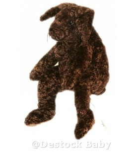 Doudou peluche Lapin brun marron foncé IKEA 40 cm Gosig kanin 15 3/4