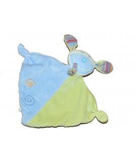 Doudou plat - Lapin bleu vert BABY CLUB BabySun C et A