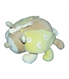 Doudou Peluche musicale - COCCINELLE beige vert - BABYSUN Baby Sun
