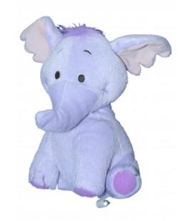 Doudou peluche LUMPY Efelant Elephant mauve 19 cm Disney fisher Price Mattel Grelot