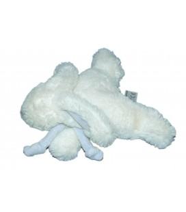 Doudou LAPIN blanc bleu Bonbon Pt Mod. L 15 cm Doudou et Compagnie pour JACADI