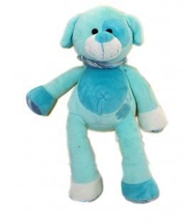 Doudou CHIEN bleu turquoise BABY NAT' Babynat - Foulard Coquard