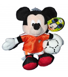 Peluche doudou MICKEY Footballer Disney Nicotoy - 22 cm MK Football Holland