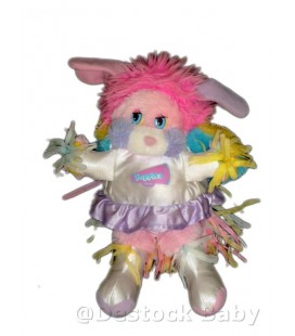 Peluche doudou Popples Pompom Girl - Puffball Blanc MATTEL - 32 cm