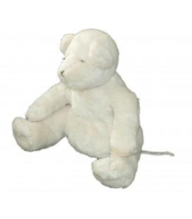 Doudou peluche ours blanc DPAM Du Pareil au Meme 20 cm