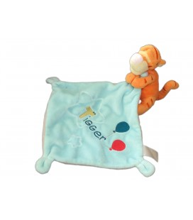 Doudou Tigrou Mouchoir bleu ballons Disney Nicotoy Simba Tigger