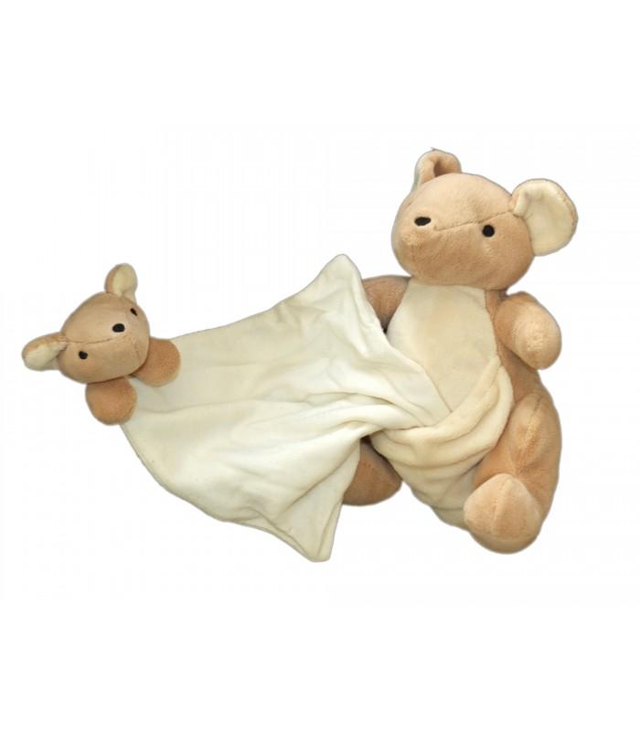 doudou kangourou et son b b mouchoir nature et d couvertes 20 cm. Black Bedroom Furniture Sets. Home Design Ideas