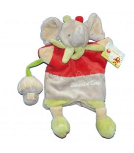 DOUDOU ET COMPAGNIE - Marionnette Alban L'éléphant gris rouge