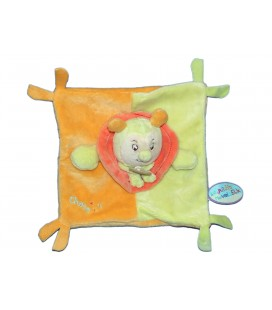 DOUDOU ET COMPAGNIE - ESCARGOT Choco plat carré orange vert 20 cm 7001