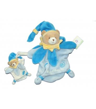 DOUDOU ET COMPAGNIE - Marionnette OURS Bleu Maman et bébé