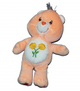 Doudou Peluche Bisounours Groscopain Friend Bear - 2 fleurs - JEMINI Care Bears 22 cm