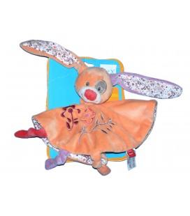 Doudou plat rond LAPIN Orange mauve - TEX Baby Carrefour
