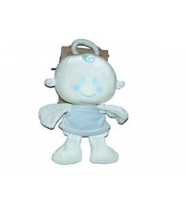 Doudou ANGE Angelot blanc bleu - ORCHESTRA - H 22 cm