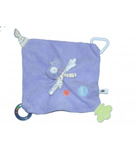 Doudou CHAT mauve - MALICE ET BULLE - Grelot Dentition - CP International