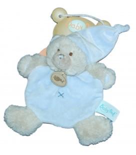 Doudou Plat OURS Ourson Calin bleu Croix BN659 - BABY NAT Babynat - BN560