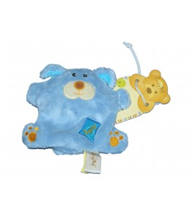 Doudou OURS bleu Monstre - BABY NAT Babynat - Petites billes - PE840BN