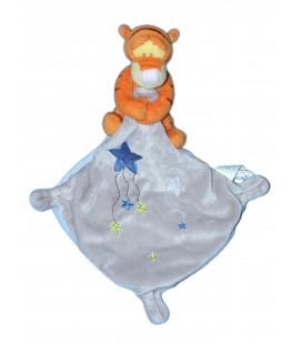 Doudou Tigrou Mouchoir Gris Etoiles Disney Baby Simba