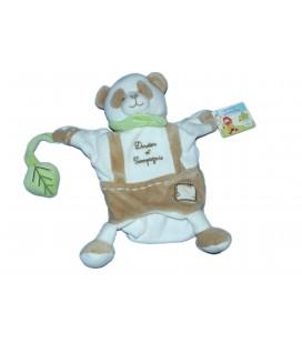 DOUDOU ET COMPAGNIE - Marionnette Mario PANDA - gris blanc vert