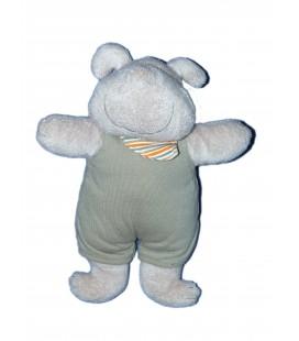 Doudou Peluche - CHIEN gris Salopette - TAPE A L'OEIL - H 23 cm