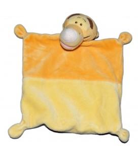 Doudou plat TIGROU Jaune orange - Disney Nicotoy