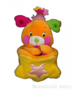 Peluche POPPLES - Orange LANSAY - 35 cm - *** NE FONCTIONNE PLUS ***