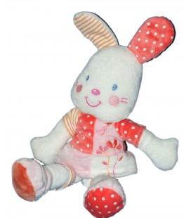 Doudou LAPIN Blanc rose KIABI Baby - H 32 cm