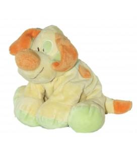 Doudou Peluche CHIEN Jaune orange - Kiabi Avda Nicotoy H 20 cm