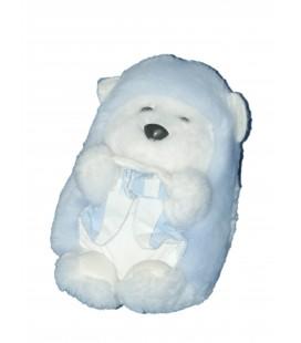 Doudou Peluche HERISSON Bleu blanc - TARTINE ET CHOCOLAT - H 15 cm