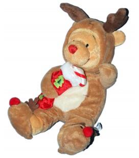 Peluche Noel Doudou WINNIE PJ Pal Pooh Chaussette Sucre d Orge 26 cm Disney Store London