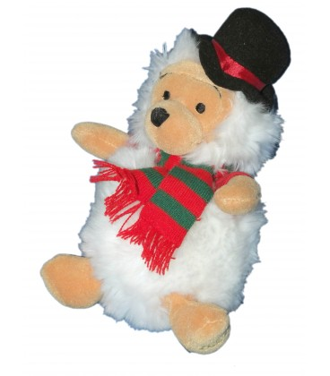 RARE ET COLLETOR - Peluche Noël - Doudou WINNIE l'ourson - Snowman Pooh - H 20 cm - Disney Store London
