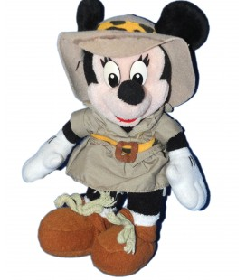 Doudou peluche MINNIE Exploratrice Safari - Disney - H 26 cm