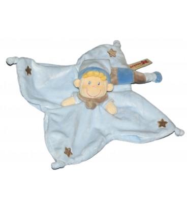Doudou plat LUTIN Bleu - NICOTOY - Etoiles - 579/7151