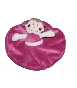 Doudou rond Fille violet rose KIMBALOO La Halle !
