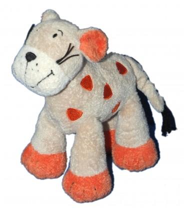 Doudou Girafe Tigre Beige orange - NICOTOY The Baby Collection - H 18 cm