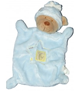 Doudou plat OURS bleu Etoile - NICOTOY Simba - 579/8533