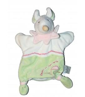 DOUDOU ET COMPAGNIE - Marionnette Souris Barbotine SANS son bebe - Vert blanc
