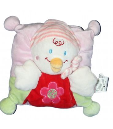 Doudou Coussin poussin Pingouin rose rouge Fleur - Nicotoy Kiabi Avda