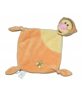 Doudou plat Tigrou Jaune orange losange 3 noeuds Disney Simba 587/9993