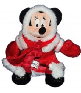 Doudou Peluche MINNIE Déguisée Mère Père Noël Disney Disneyland Paris H 24 cm
