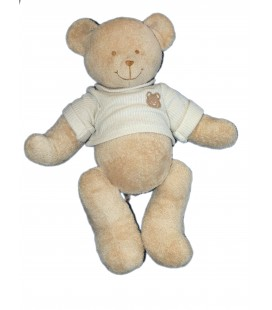Doudou Peluche OURS beige - NICOTOY The Baby Collection - Pull tricot - 36 cm