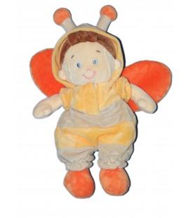 Doudou Peluche Lutin Papillon orange NICOTOY - 26 cm - 579/6648
