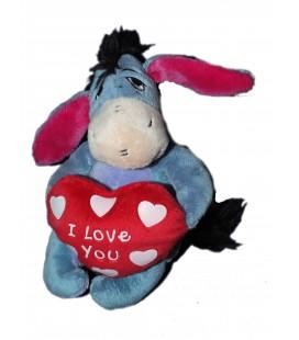 Peluche doudou BOURRIQUET Coeur love you - Disney Nicotoy - H 20 cm