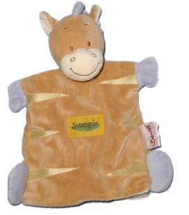 Doudou marionnette Zèbre cheval Poney beige mauve - BENGY Amtoys - 2005